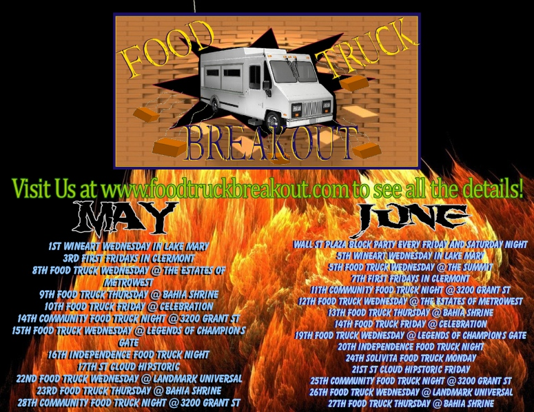 Food Truck Breakout May/June Schedule